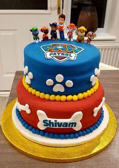 Paw patrol cake for my son& birthday 😊 , Paw Patrol Birthday Decorations, Paw Patrol Birthday Theme, Toddler Birthday Cakes, 3rd Birthday Cakes, 4th Birthday, Paw Patrol Torte, Paw Patrol Cupcakes, Cakes For Boys, Party Cakes