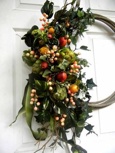 Fall Wreaths For Front Door | Fall / Front Door Wreath Lariat Wreath Year Round by forevermore1, $99 ...