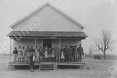Black School House Missouri Farms 4x6 Reprint Of Old Photo