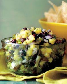 Pineapple and Black Bean Salsa