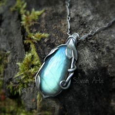 Labradorite  Vine Leaf Necklace  Artisan Crafted by SilvanArts https://www.etsy.com/listing/197401255/labradorite-vine-leaf-necklace-artisan