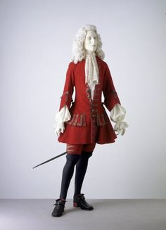 Formal coat and breeches,  1700-1705, England.