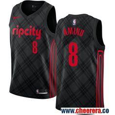 b135fd343 Portland Trail Blazers Al-Farouq Aminu Black Nike NBA Men s Stitched  Swingman Jersey City Edition