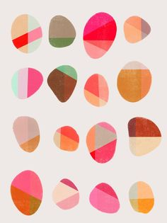 Painted Pebbles 5 by Garima Dhawan on Artfully Walls, color inspiration, color palette, color wheel, complementary colors, hex color, color palette generator