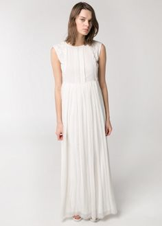 Embroidered long dress @ Mango