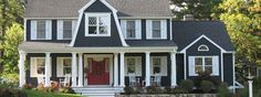colonial with front porch - Google Search