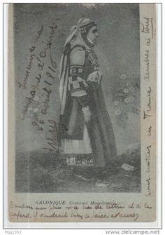 salonique costume macedonien www. Greek Costumes, Greece, Folk, Design, Russian Constructivism, Cards, Greece Country, Popular