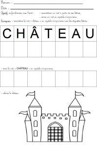 """reconstituer le mot """"château"""""""