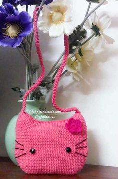 crochet pattern for hand bags | crochet hello kitty bag and hat | make handmade, crochet, craft