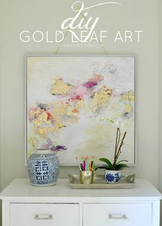 DIY Gold Leaf Art! Love this!