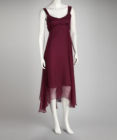 Take a look at this Purple Ruffle Dress by Bohemian Beauty: Women's Apparel on #zulily today!