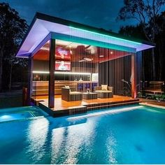 Like the look, waterfall (although maybe I'd want more water).   This could be a great swim up bar.