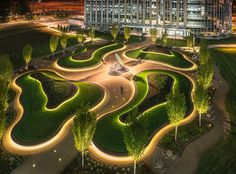 What do you think of the lighting scheme in this project, the sculpture pretty cool too, love it - http://landarchs.com/receptor-cliff-garten-studio/