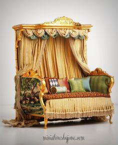 DAYBED - Miniature Dollhouse Furniture by June Clinkscales | Settees