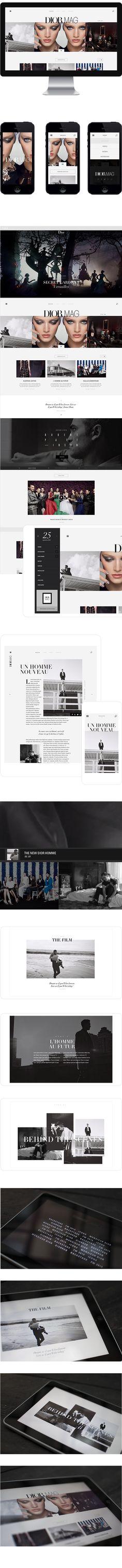 Dior Mag by Jonathan Da Costa, via Behance