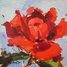 "cathleen rehfeld • Daily Painting: ""Paris In The Park Blocks"" Portland Art Museum Rose Garden"