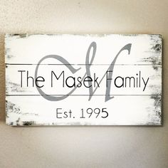 Established sign marriage wood sign 18x10 by AmbersWoodenBoutique                                                                                                                                                                                 More