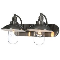 Minka Lavery Downtown Edison 2-Light Brushed Nickel Bath Light-5132-84 - The Home Depot