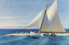 "Edward Hopper, The ""Martha McKeen"" of Wellfleet, 1944. Oil on canvas. 81,5 x 127 cm. Colección Carmen Thyssen-Bornemisza Collection"