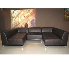 #1018 Modern contemporary leather 2pc sectional « Tiffanys Furniture USA