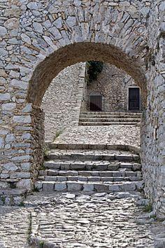 Castle of Nafplio (Palamidi) at Peloponesse, Greece Parthenon, Acropolis, Castle Ruins, Medieval Castle, Ancient Ruins, Ancient Greece, Macedonia Greece, Classical Greece, Colors