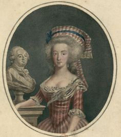 Marie Antoinette with a bust of Louis XVI.