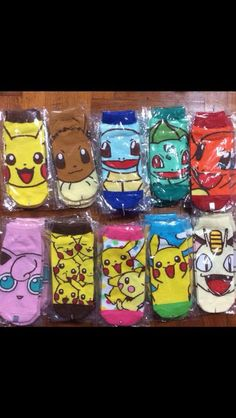 Pokemon socks. If I could have em all.
