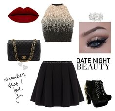 """""""Date night with my love❤️"""" by baymbakale ❤ liked on Polyvore featuring Lace & Beads, Polo Ralph Lauren, Chanel, M&Co and Vivienne Westwood"""