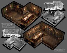 Medieval Interior: Meeting Room Castles interior Art room Meeting room