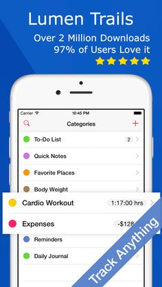 Lumen Trails Daily Planner - Omni Tracker for Exercise Food Time and Money on App Store:    Apple New Year New You Favorite  Apple App Store Staff Favorite Lumen Trails is an omni tracker. It lets you take notes make lists and keep track of other things in your life such as time workouts expenses calories food weight sleep or anything else you can think of. Thousan...  Developer: Lumen Spark LLC  Download at http://ift.tt/1HfVpAa