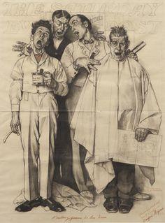 Study for Barbershop Quartet, 1936,