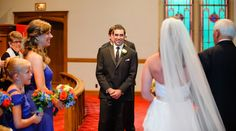 groom waiting for bride  Wedding at Arlington Heights United Methodist and The Fort Worth Club