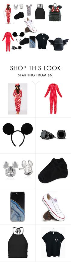 """""""Sleepwear"""" by blackjanija on Polyvore featuring Bling Jewelry, Disney, Aéropostale, Forever 21, Converse, Boohoo, WithChic and Current Mood"""