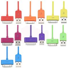 Colorful 20cm USB cable