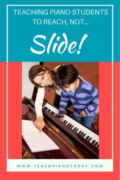 Fun ways to teach your piano kids to reach instead of sliding up and down on the piano bench.