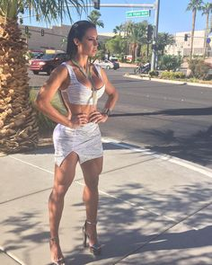 Gracyanne Barbosa.     Not sure being dressed like that on the streets of Vegas is a good idea.