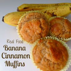 Whole Wheat Banana Muffins Breakfast Recipes, Dessert Recipes, Breakfast Muffins, Brunch Recipes, Desserts, Cinnamon Muffins, Banana Cinnamon, Banana Bread, My Favorite Food