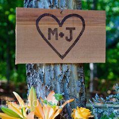 Initials Wedding Sign