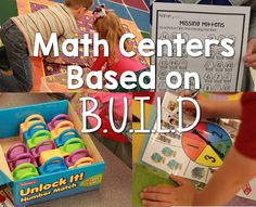 math centers based on B.U.I.L.D. (Kickin' it in Kindergarten)