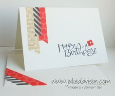 Julies Stamping Spot -- Stampin Up! Project Ideas Posted Daily: Sharing This & That with TV Viewers & Washi Tape Notecard