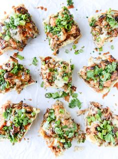 BBQ chicken french breads are great for game day appetizers!