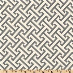 Waverly Cross Section gray fabric