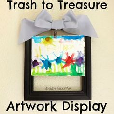 Trash to Treasure: Frame that Artwork ~ DIY Friday