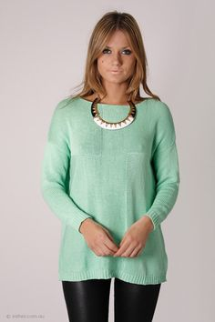 sands of time knit jumper - light mint