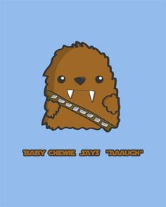 Baby Chewbacca Nursery Art modern print poster by modernhomeprints, $8.99