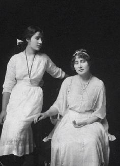 The Queen Mother ( left) and her sister Lady Rose