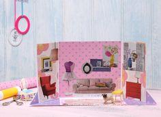 Prinzessinnenzimmer, Puppenstube,  DIY, Basteln mit Kindern, Kindergeburtstag, produziert für tambini.de