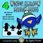 Winter Shadow Match Mats by Giggling Wombat | Teachers Pay Teachers