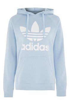 Trefoil Hoodie By Adidas Originals Adidas Trefoil Hoodie, Adidas Hoodie, Adidas Outfit, Nike Outfits, Sporty Outfits, School Outfits, Blue Hoodie, Cotton Hoodies, Hooded Sweatshirts