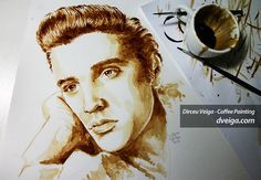 Stunning Paintings of Famous Celebrities With Coffee Art by Dirceu Veiga